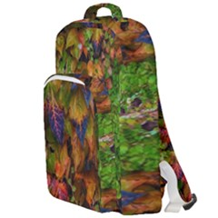 Fall Ivy Double Compartment Backpack by okhismakingart