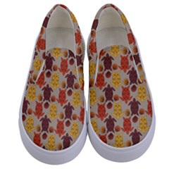 Sea Turtle Sea Life Pattern Kids  Canvas Slip Ons