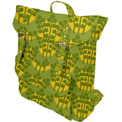 Texture Plant Herbs Green Buckle Up Backpack