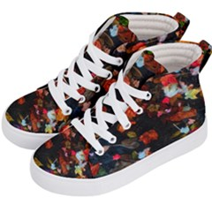 Leaves And Puddle Kids  Hi Top Skate Sneakers by okhismakingart