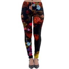 Leaves And Puddle Lightweight Velour Leggings by okhismakingart