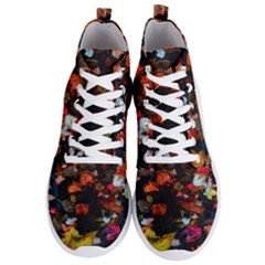Leaves And Puddle Men s Lightweight High Top Sneakers by okhismakingart