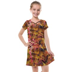 Red And Yellow Ivy Kids  Cross Web Dress by okhismakingart