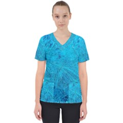 Turquoise Pine Women s V Neck Scrub Top by okhismakingart