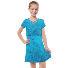 Turquoise Pine Kids  Cross Web Dress by okhismakingart