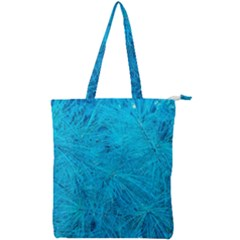 Turquoise Pine Double Zip Up Tote Bag