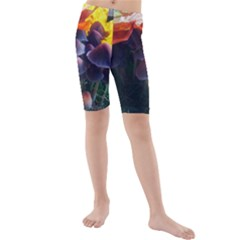 Mushrooms Kids  Mid Length Swim Shorts by okhismakingart