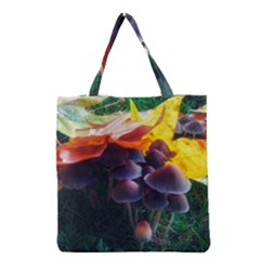 Mushrooms Grocery Tote Bag by okhismakingart
