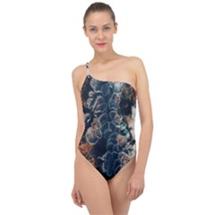 Tree Fungus Branch Vertical Classic One Shoulder Swimsuit by okhismakingart