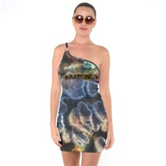 Tree Fungus Branch One Soulder Bodycon Dress