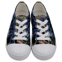 Tree Fungus Branch Kids  Low Top Canvas Sneakers