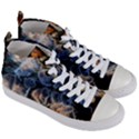 Tree Fungus Branch Women s Mid-Top Canvas Sneakers View3