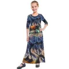 Tree Fungus Branch Kids  Quarter Sleeve Maxi Dress