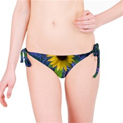 Blue Sunflower Bikini Bottom
