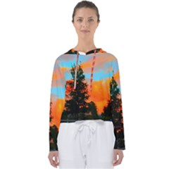 Neon Landscape Women s Slouchy Sweat