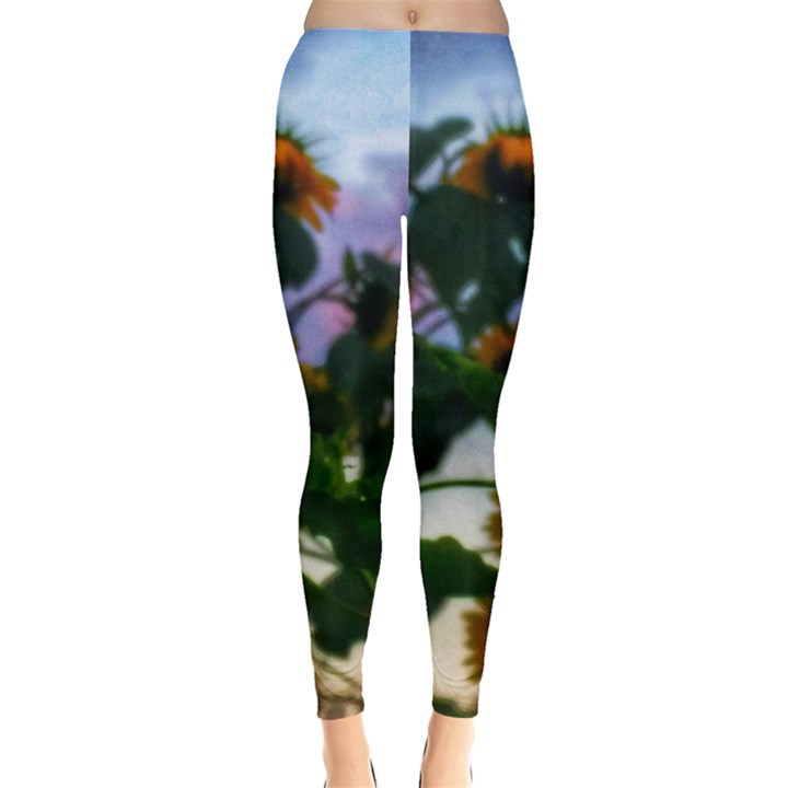 Sunflowers and Wild Weeds Leggings