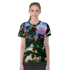 Sunflowers And Wild Weeds Women s Cotton Tee