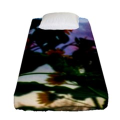 Sunflowers And Wild Weeds Fitted Sheet (single Size)