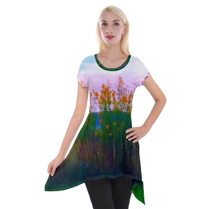 Field of Goldenrod Short Sleeve Side Drop Tunic