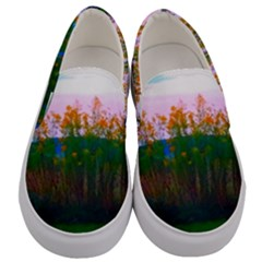 Field Of Goldenrod Men s Canvas Slip Ons