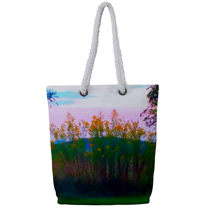 Field of Goldenrod Full Print Rope Handle Tote (Small)