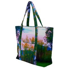 Field Of Goldenrod Zip Up Canvas Bag