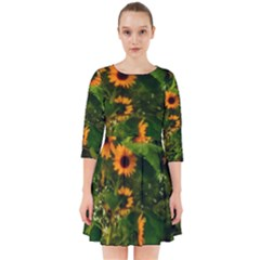 Sunflowers Smock Dress