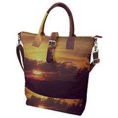 Early Sunset Buckle Top Tote Bag