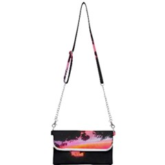 Sunset And Geraniums Mini Crossbody Handbag by okhismakingart