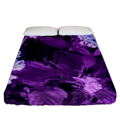 Queen Anne s Lace With Purple Leaves Fitted Sheet (queen Size) by okhismakingart