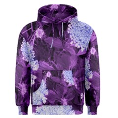 Queen Anne s Lace With Purple Leaves Men s Pullover Hoodie by okhismakingart