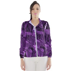 Queen Anne s Lace With Purple Leaves Women s Windbreaker by okhismakingart