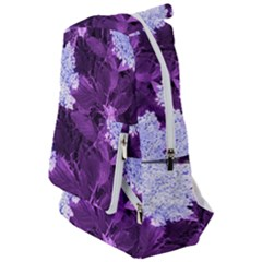 Queen Anne s Lace With Purple Leaves Travelers  Backpack by okhismakingart