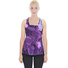 Queen Anne s Lace With Purple Leaves Piece Up Tank Top by okhismakingart