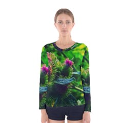 Bur Flowers Women s Long Sleeve Tee by okhismakingart