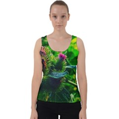 Bur Flowers Velvet Tank Top by okhismakingart