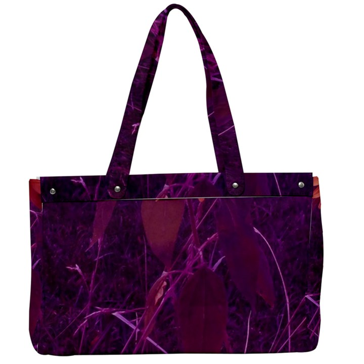 Purple Sunflower Canvas Work Bag