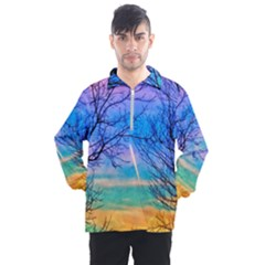 Pastel Plane Take Off Men s Half Zip Pullover by okhismakingart