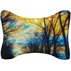 Yellow And Blue Forest Seat Head Rest Cushion