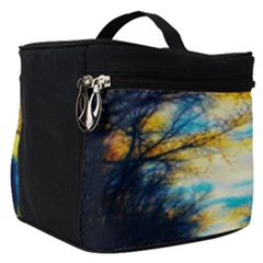 Yellow And Blue Forest Make Up Travel Bag (small)