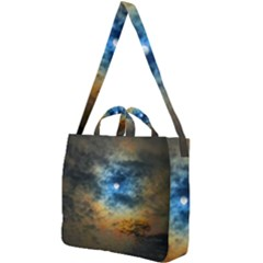 Rainbow Sun Square Shoulder Tote Bag