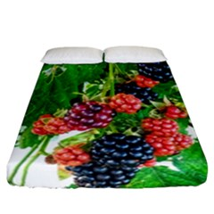 Blackberries Fitted Sheet (california King Size) by okhismakingart