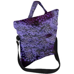 Blue Queen Anne s Lace Landscape Fold Over Handle Tote Bag