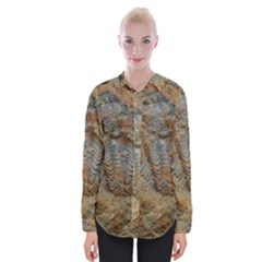 Shell Fossil Womens Long Sleeve Shirt by okhismakingart