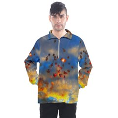 Football Fireworks Men s Half Zip Pullover by okhismakingart