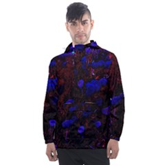 Red Edged Blue Sedum Men s Front Pocket Pullover Windbreaker by okhismakingart