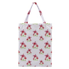 Cute Floral Drawing Motif Pattern Classic Tote Bag by dflcprintsclothing