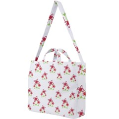 Cute Floral Drawing Motif Pattern Square Shoulder Tote Bag by dflcprintsclothing