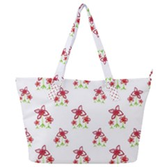 Cute Floral Drawing Motif Pattern Full Print Shoulder Bag by dflcprintsclothing