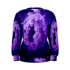 Dark Purple Closing Queen Annes Lace Women s Sweatshirt
